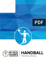 SPECIAL OLYMPICS WORLD GAMES HANDBALL TECHNICAL MANUAL
