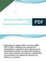 Norma Para Lentes, ANSI Z87