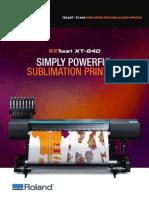 Roland Texart XT 640 Dye Sublimation Printer by Print Finish