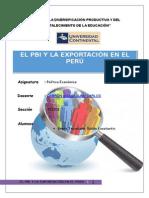 El Pbi y La Exportacion en El Peru