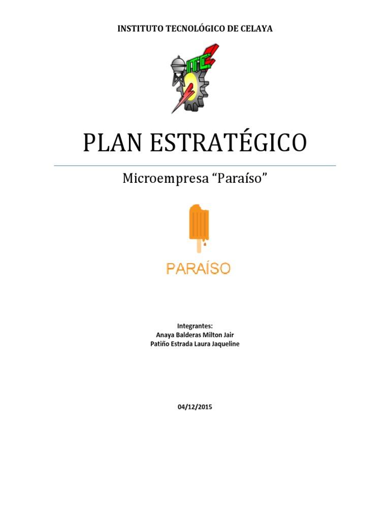 Plan Estrategico Paleteria