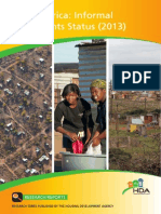 Report on Informal Settlement in South Africa