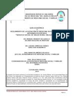 Guía Académica y Reglamento Rotación Medicina Social y Familiar Del Internado Sssro 2014