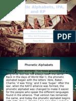 (II) Phonetic Alphabets, IPA &RP