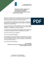 Lettre ouverte du Président de la Cress Paca - Élections Régionales