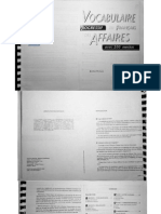 Vocabulaire Affaires