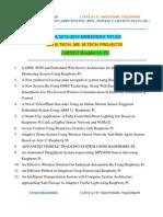 Mtech Embedded Ieee Projects List 2015-2016 Hyderabad,