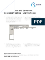 Biznet Metronet - Connection Setting - Microtic Router