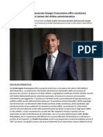 Studio Legale Giorgio Fraccastoro Assistenza Professionale in Diversi Settori Del Diritto Amministrativo