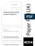 F3 (Financial Accounting) UK