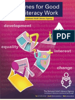 Guidelines for Good Adult Literacy Work