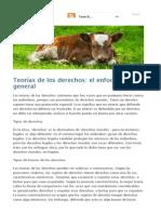 Teorías de Los Derechos_ El Enfoque General - Ética Animal