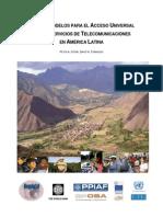 Regulatel - Novos Modelos Para Acesso Universal Telecomunicacoes - 2006