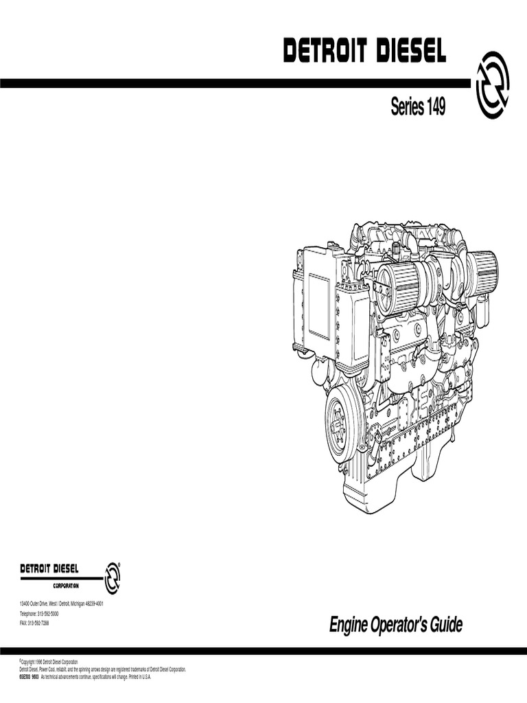 DDC Series 149 Maintenance | Turbocharger | Battery