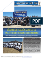 Líderes de Huarón, juntos en taller de entrenamiento extremo - Eusterio Huerta León