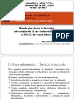 Elena Harconita, Ludmila Raileanu. Metode şi mijloace de instruire informaţională în universitarul bălţean (1968-2013)