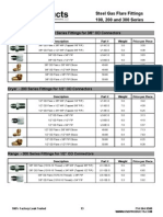 Steel Gas Flare Fittings 100, 200 and 300 Series