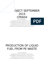Production of Liquid Fuel From PE Waste