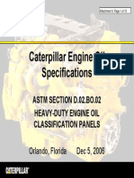 Caterpillar Engine Oil Specifications
