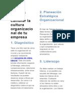 6 Pasos Para Cambiar La Cultura Organizacional de Tu Empresa