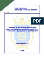 32 - Ensino Profissional Marítimo - Portuários e Atividades Correlatas