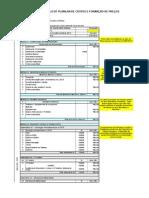 Modelo de Planilha de Custos e Formação de Preços