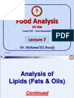 Food Analysis-Lecture 7