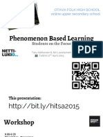 Phenomenon Based Learning