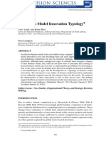 A Business Model Innovation Typology