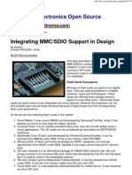 Integrating MMC SDIO Support in Design