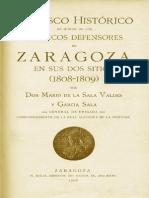 De LA SALA, MARIO-Obelisco Histórico en Honor a Los Defensores de Zaragoza