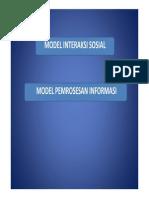 Model Interaksi Sosial [Compatibility Mode]