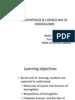 2.2. Biosintesis Hemoglobin