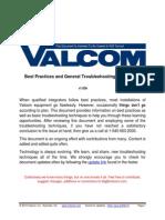 Valcom Best Practices and General Troubleshooting Procedures