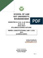 Constitutional Law Syllabus