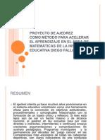 PROYECTO TRANSVERSAL ÁREA MATEMÁTICAS PARA VER