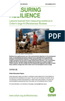 Measuring Resilience: Lessons learned from measuring resilience in Oxfam's large-N Effectiveness Reviews