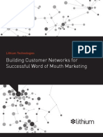 Lithium Building Customer Networks for Successful Word of Mouth Marketing