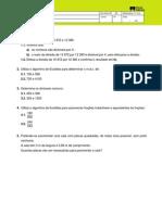 Algoritmo de Euclides 1.12.Mat.5ano