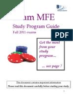 Exam MFE Study Program Guide