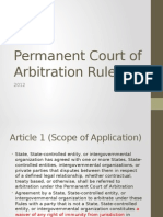 Permanent Court of Arbitration Rules