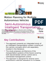 Motion Planning for Multiple Autonomous Vehicles