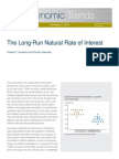 Long Run Natural Rate of Interest