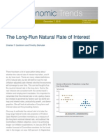 Long Run Natural Rate of Interest