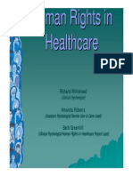 Human Rights in Healthcare