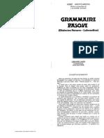 Arotcarena - Grammaire Basque (Navarro-labourdin)