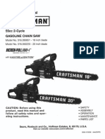 Craftsman Chainsaw 55 cc l 0611378