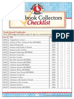 Gooseberry Patch Cookbook Collectors Checklist