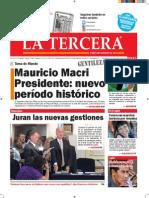 Diario La Tercera 10.12.2015