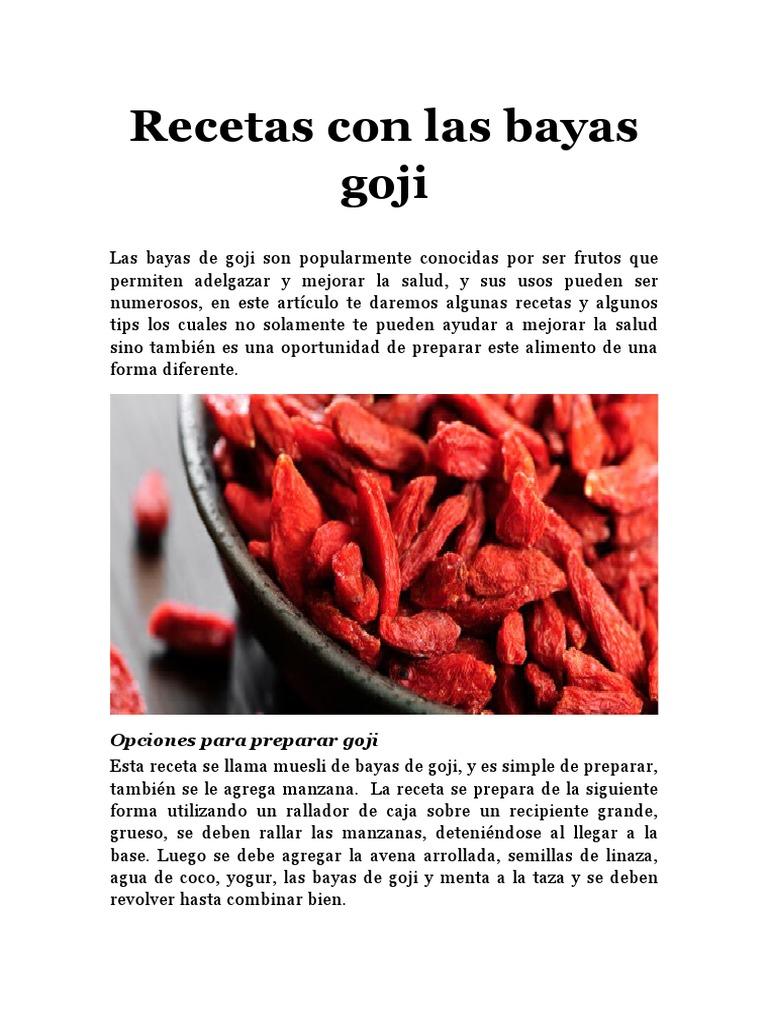 Recetas Con Las Bayas Goji Opciones Para Preparar Goji